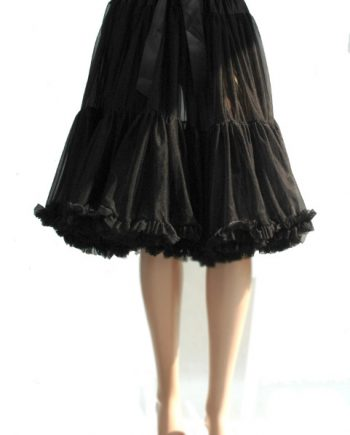 Petticoat zwart enkellaags