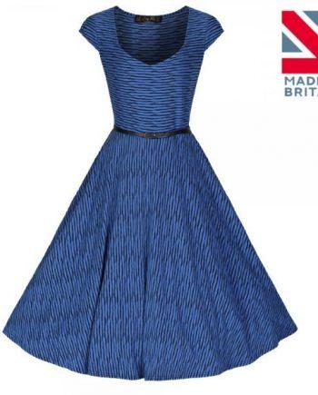 Lindy Bop - Belle sweetheart strip swing dress