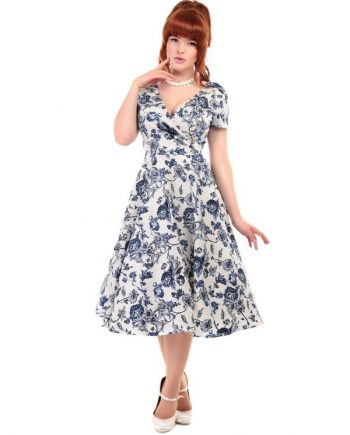 Maria Toile Floral Print Swing Dress