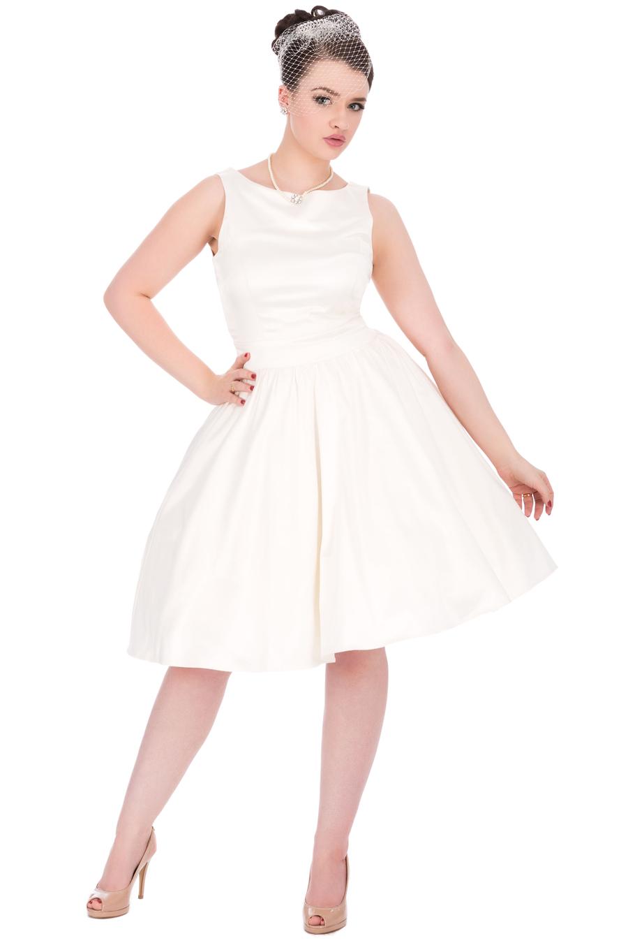Lady Vintage 50s Style Ivory Wedding Dress Miss Vintage