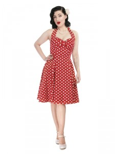 Joanna Polka Dot Doll Dress in Red