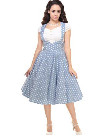 Mary Vintage Polka Dot Print Swing Skirt