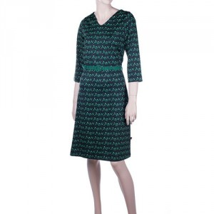 Dress Alicia Buttercup Green recycled polyester