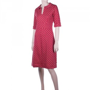 Dress Milou jacquard rood