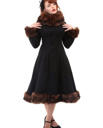 jas pearl coat black