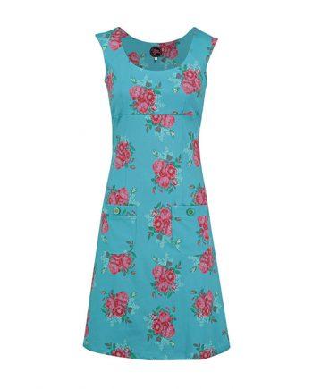 Dress Summer les fleurs lichtblauw Jarno