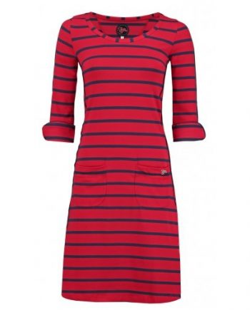 jurk patsy stripe rose red