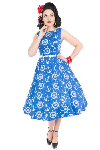 8330b0d5108376 Collectif Dolores Cherry Stem jurk - zwart - Miss Vintage