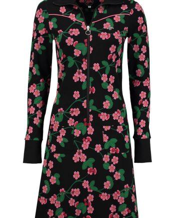 jurk sporty cherry blossom black
