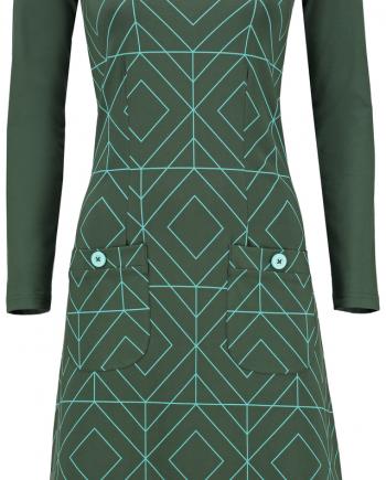 jurk twiggy grafisch groen