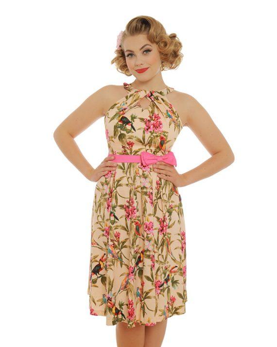 vintage jurk Cherel Birds