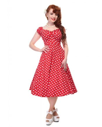 Dolores doll dress rood