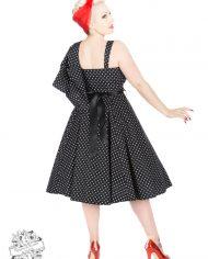 Black White Small Polka Dot Swing Dress With Bolero1