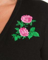 Centifolia Rose Shrug In Black1