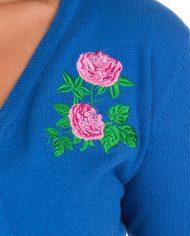 Centifolia Rose Shrug In Blue1