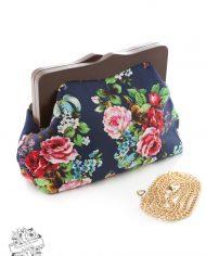 Navy Floral Clutch Bag2