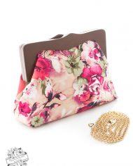 Pink Floral Clutch Bag2