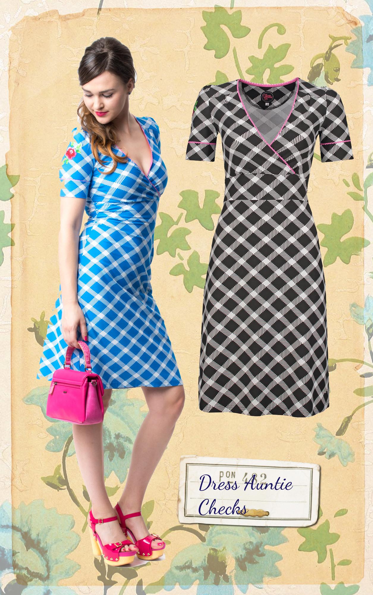 Tante Betsy jurk Missy Checks zwart | Tante Betsy