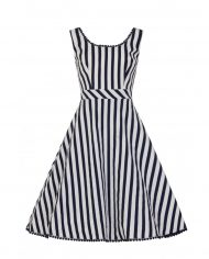 lucille-striped-swing-dress-zwart collectif