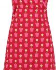 bloempotjes jurk rood