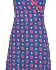daisy blue bloempotten jurk