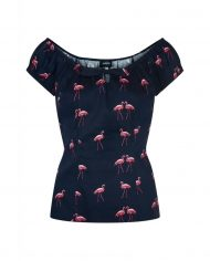 lorena-winter-flamingo-print-top-zwart