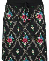 Zipper skirt gardenia Black
