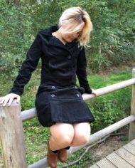 jacket corduroy black zittend