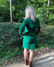 velour dress achterkant