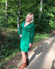velour dress green