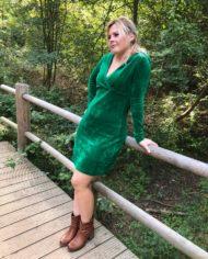 velour dress green 2