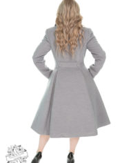 Hearts & Roses 50s Lauren Swing Coat Grey 1