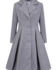 Hearts & Roses 50s Lauren Swing Coat Grey 2